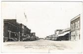 Minneapolis, Kansas Real Photo Postcard:  Main Street