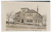 Great Bend, Kansas Real Photo Postcard:  Public School