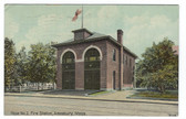 Amesbury, Massachusetts Vintage Postcard:  Fire Station