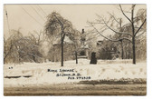 St. John, New Brunswick, Canada Real Photo Postcard:  1920 Ice Storm, King Square
