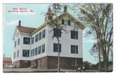 Boothbay Harbor, Maine Vintage Postcard:  High School