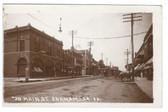 Anamamosa, Iowa Real Photo Postcard:  Main Street
