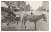 Boone, Iowa Real Photo Postcard:  Downtown Donkey-Drawn Wagon
