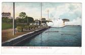 Newport, Rhode Island Postcard:  Sham Battle at Naval Station
