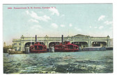 Camden, New Jersey Postcard:  Pennsylvania Railroad Ferries