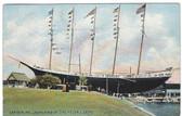 Camden, Maine Postcard:  Launching of the Helen J. Seitz