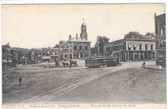 Claremont, New Hampshire Postcard:  Tremont Square & Trolley