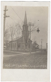 Claremont, New Hampshire Real Photo Postcard:  Baptist Church