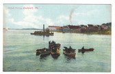 Eastport, Maine Vintage Postcard:  Pollock Fishing