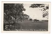 Greenville Jct., Maine Real Photo Postcard:  Golfers & Squaw Mountain Inn