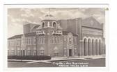 Mexia, Texas Real Photo Postcard:  City Hall & Auditorium