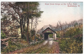 Brattleboro, Vermont Postcard:  Broad Brook Covered Bridge