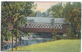 Brattleboro, Vermont Vintage Postcard:  Creamery Covered Bridge