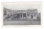 Colchester, Connecticut Postcard:  Post Office Block & Ice Cream