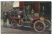 Bridgeport, Connecticut Postcard:  Chemical Auto Fire Truck