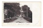 Deep River, Connecticut Postcard:  Main Street South from Saw Mill Bridge