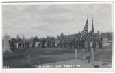 Abbot, Maine Real Photo Postcard:  Memorial Day At Cemetery