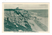 Block Island, Rhode Island Postcard:  South East Lighthouse & Cliffs
