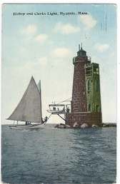 Hyannis, Massachusetts Postcard:  Bishop and Clerks Lighthouse