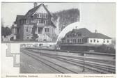 Cranbrook, British Columbia, Canada Postcard:  C. P. R. Railroad Station
