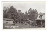 Gerard, Maine Real Photo Postcard:  Spencer Lake Camps