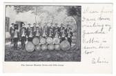 Moodus, Connecticut Postcard:  The Famous Moodus Drum and Fife Corps