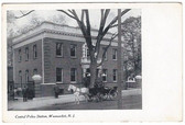 Woonsocket, Rhode Island Postcard:  Central Police Station