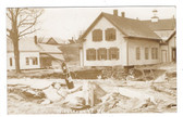 Middlesex, Vermont Real Photo Postcard:  Flood Damage & Gas Pump