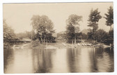Millinocket, Maine Real Photo Postcard:  Kidney Pond Camps