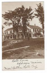 Addison, Maine Real Photo Postcard:  Hall House