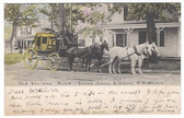 Saxtons River, Vermont Postcard:  Old Saxtons River Stage Coach