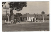 Epsom, New Hampshire Real Photo Postcard:  4 Corners Service Station