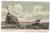 Bath, Maine Postcard:  Ship Building