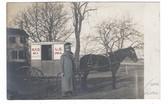 Georgetown, Massachusetts Real Photo Postcard:  RFD Wagon with Mailman