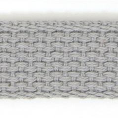"1"" Cotton webbing GREY - 60207-00005"
