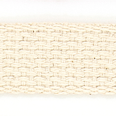 "1"" Cotton webbing NATURAL - 60207-00009"