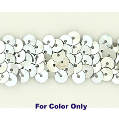 6MM cup sequins strings SILVER - 09072-00002