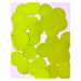 20MM flat loose sequin bag FLORO LIME - 09080-00022