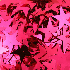 50MM Stars loose sequins FUSCHIA - 09086-00008