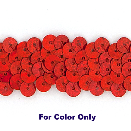 6MM Flat Sequin slung SPOT RED - 09000-00065
