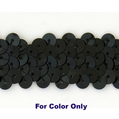 8MM cup sequin strings BLACK - 09073-00001