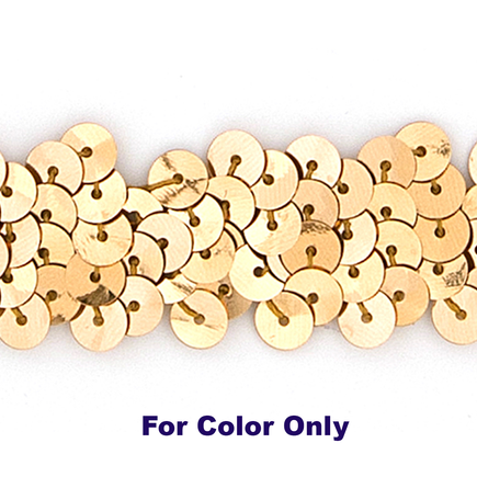 8MM cup sequin strings GOLD - 09073-00003