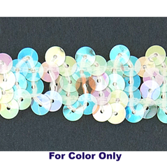 8MM cup sequin strings CLEAR IRIS WHITE - 09073-00018