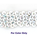 8MM cup sequin strings SPOT SILVER - 09073-00033