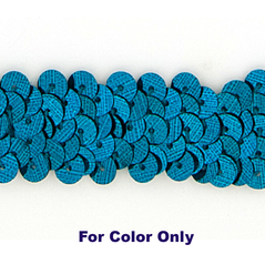 8MM cup sequin strings TEAL - 09073-00042