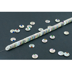 10MM cup sequin strings JEWEL SILVER - 09074-00026