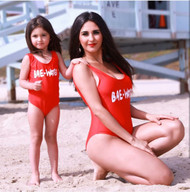 Mommy elsa one-piece swimsuit-Bae-Water