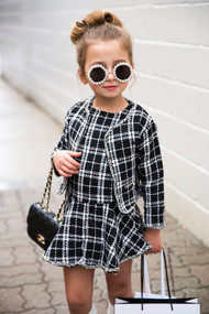 Ariana mini Coco tweed two-piece Set (Toddlers & Girls)