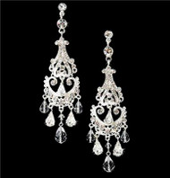 STUNNING SWAROVSKI CRYSTAL BRIDAL CHANDELIER EARRINGS WE8319