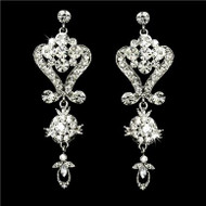 STUNNING SWAROVSKI CRYSTAL BRIDAL CHANDELIER EARRINGS WE1031